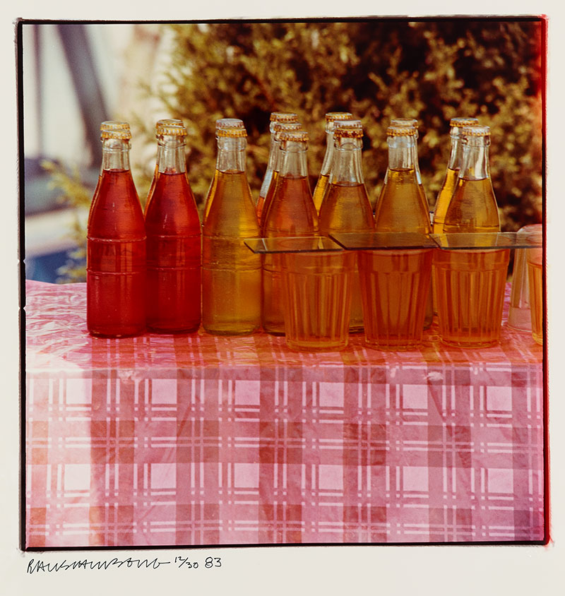"Bottles from the Studies for Chinese Summerhall series. 40"" x 30"" Kodak Ektacolor paper."