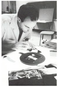George Holzer preparing the negatives for Chinese Summerhall, 1982