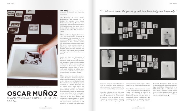 Emily Topper's review of Oscar Muñoz: Sedimentaciones.