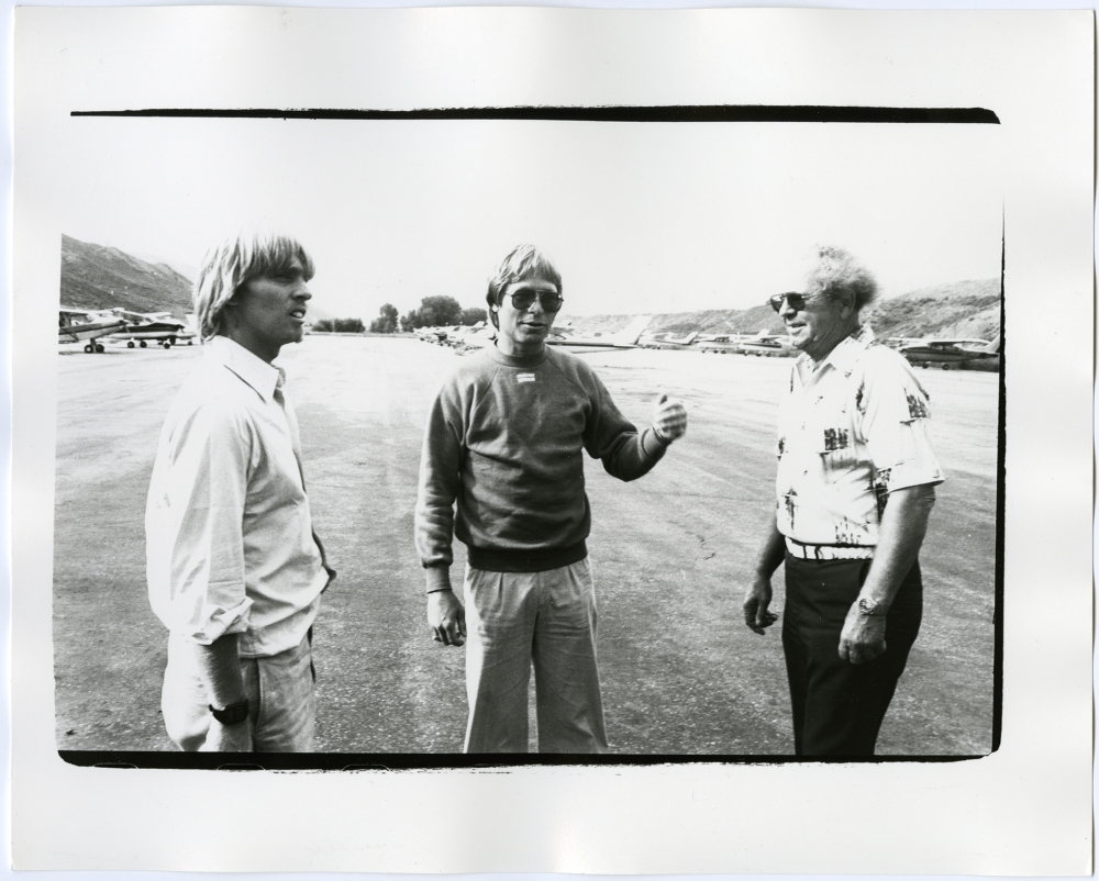 John Denver, Christopher Makos and Unidentified Man, undatedgelatin silver print